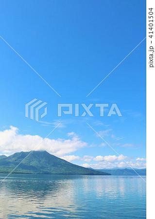 北海道 支笏湖 青の風景 41401504