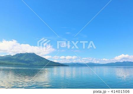 北海道 支笏湖 青の風景 41401506