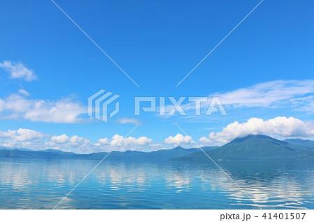 北海道 支笏湖 青の風景 41401507