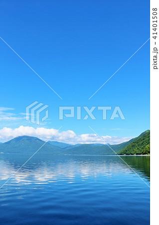 北海道 青空の支笏湖 41401508