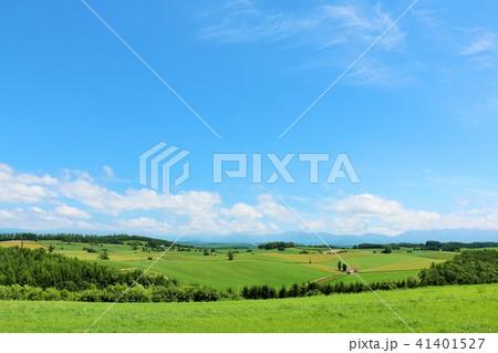 北海道 青空と大地 41401527