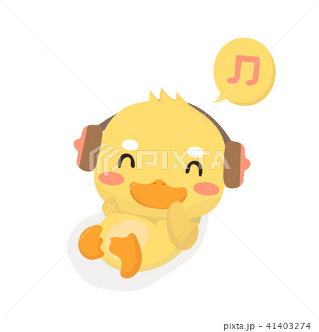 Cartoon baby duck on white background. 41403274