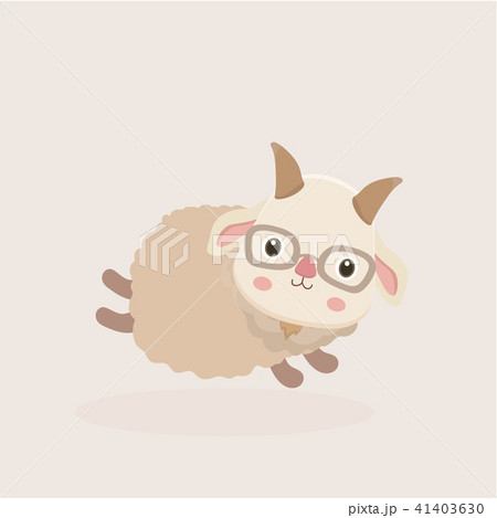 Vector illustration of Goat Cartoon. 41403630