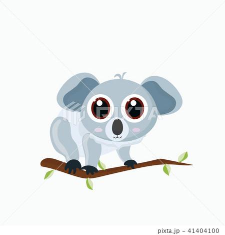 Vector illustration of cute little cartoon koala. 41404100