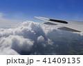 飛行機 翼 雲の写真 41409135