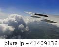 飛行機 翼 雲の写真 41409136
