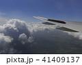 飛行機 翼 雲の写真 41409137