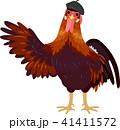 おんどり 雄鶏 仏蘭西のイラスト 41411572