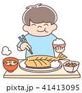 男の子 幼児 食事のイラスト 41413095