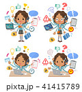 School girl Black_mulch task school 41415789