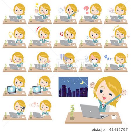 School girl White_desk work 41415797