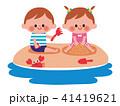 海 砂遊び 子供 41419621