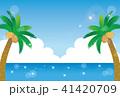 ヤシの木と海 41420709