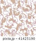 可愛いネコのパターン 41425190