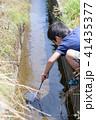 子供 男の子 川の写真 41435377