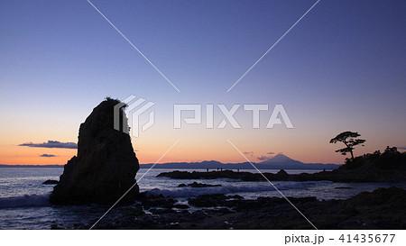 夕暮れの立石海岸  自然風景 41435677
