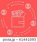 ビットコイン カード 葉書のイラスト 41441093