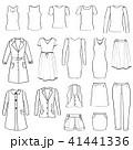 Fashion cloth icon set. Women clothes signs. Dress 41441336