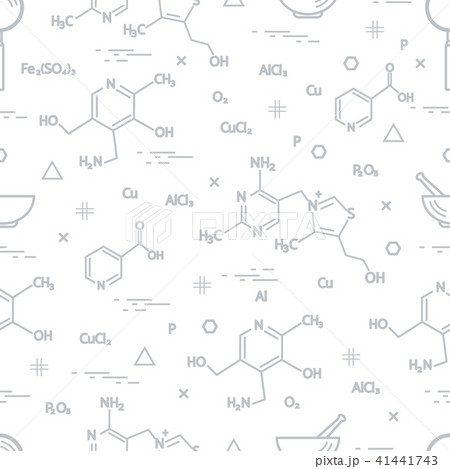 Seamless pattern with scientific, education 41441743