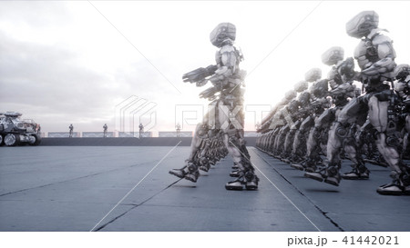invasion of military robots dramatic apocalypse super realistic