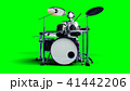Funny alien plays on drums. Realistic motion and skin shaders. 3d rendering. 41442206