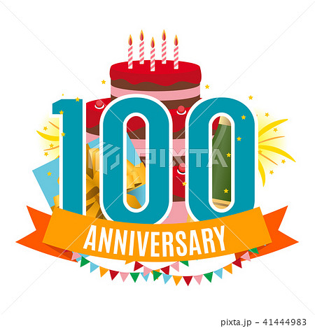 template 100 years anniversary congratulations greeting card with