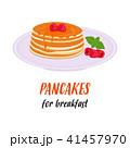 パンケーキ ホットケーキ ブレックファーストのイラスト 41457970
