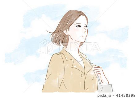 空を見上げる女性 41458398