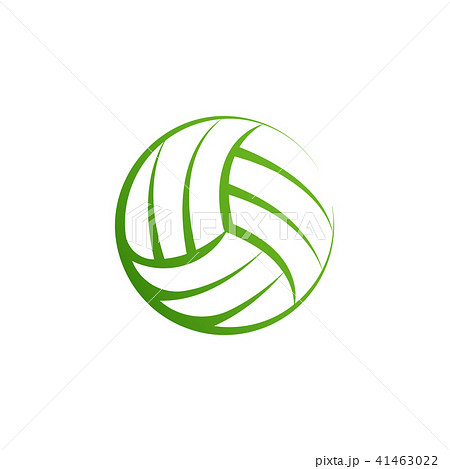 volleyball logo element vector volley ball icon isolated sport