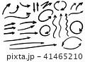 矢印 手描き アイコンのイラスト 41465210