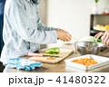 野菜を切る子供 41480322