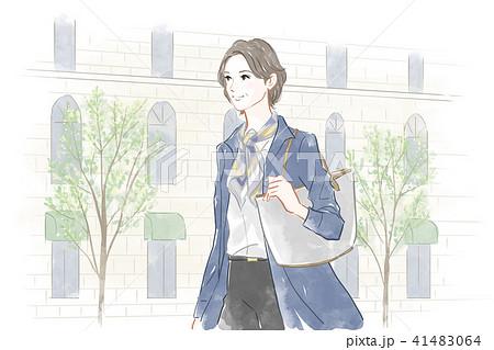 街を歩く女性 41483064