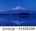 富士山 逆さ富士 夜明けの写真 41488286
