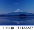 富士山 逆さ富士 夜明けの写真 41488287