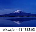 富士山 逆さ富士 夜明けの写真 41488303