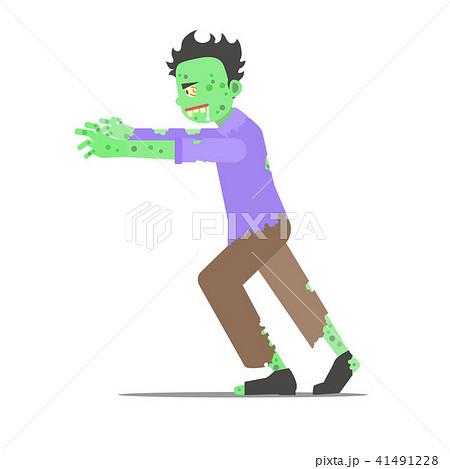 Cartoon Character Zombie Man. Vector 41491228