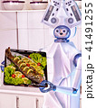 Robot domestic assistance seafood cook fish. 41491255