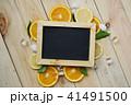 Black Board Orange Leaves Cube Ice Sea Shells 41491500