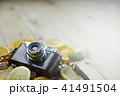 Vintage Camera Between Fresh Orange Lemon 41491504