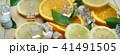 Close Up of Fresh Orange Lemon Sea Shells Leaves 41491505