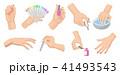 マニキュア 手 爪のイラスト 41493543