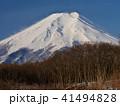 富士山 早朝 雪山の写真 41494828