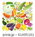 ベクトル 野菜 とまとのイラスト 41495101