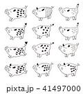 猪 動物 かわいいのイラスト 41497000