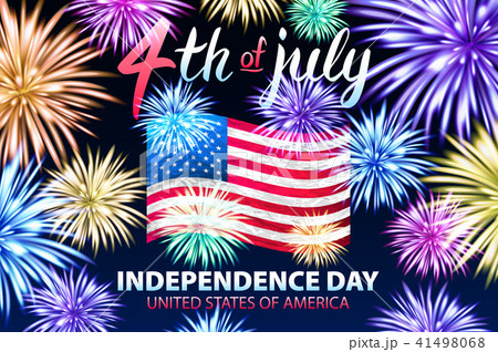 independence day background with american flag のイラスト素材