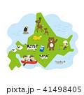 北海道マップ 41498405