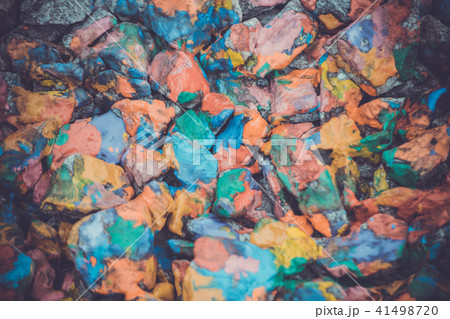 abstract background of the plane lying on colored stones 41498720