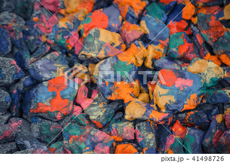 abstract background of the plane lying on colored stones 41498726