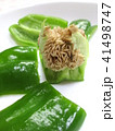 ピーマンの種をキレイに残す切り方 料理の下ごしらえ 41498747
