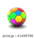 カラフルなサッカーボール 41499786
